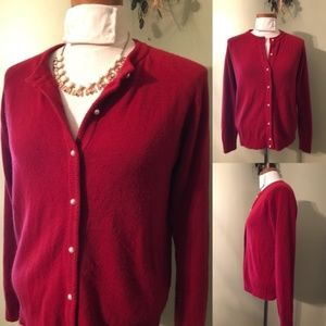 Medium Karen Scott Red Cardigan
